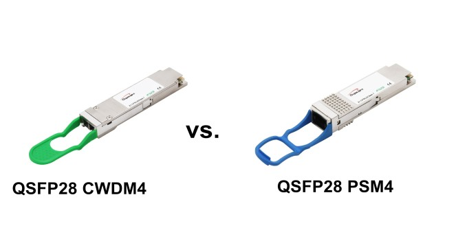 qsfp28 psm4 vs. qsfp28 cwdm4